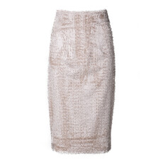Textured Velvet Pencil Skirt