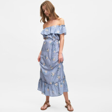 Tiered Embroidered Dress