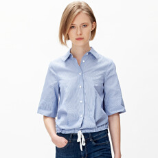 Striped Boxy Poplin Shirt