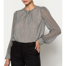 Two Tone Pleated Blouse