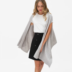 Wool & Cashmere Ribbed Cape