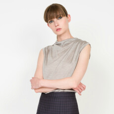 Pure Silk Jersey Drapped Top