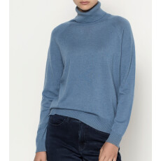 Virgin Wool and Cashmere Roll Neck Sweater