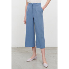 Cropped Lyocell - Linen Pants