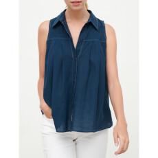 Cotton Voile Pleated Shirt